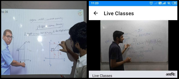 Mr. Sudhir running the Schooglink Live classes at our Grassroots Centre, Barh